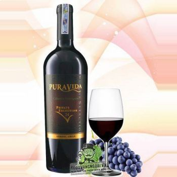 Rượu Vang Chile PURAVIDA PRIVATE SELECTION Cabernet Sauvignon 24